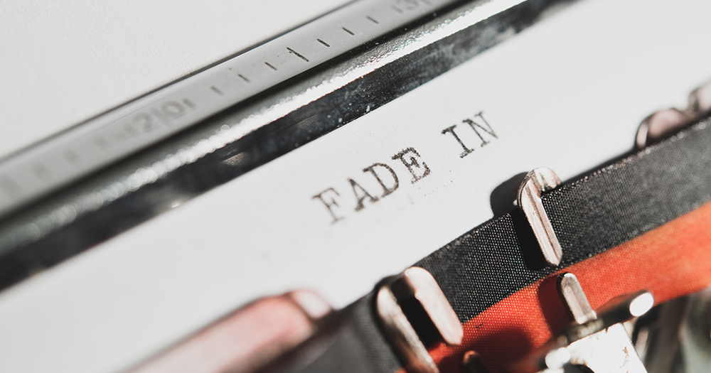 "Typewriter vintage text ""fade in"""